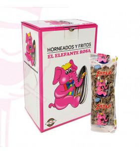 PIPAS TRANSPARENTES ELEFANTE ROSA 30 UD.