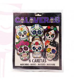 CARETAS CALAVERAS KATRINAS 6UD.
